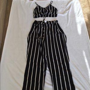Adorable 2 Piece Striped Set